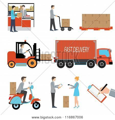 Delivery Person Freight Logistic Business Industry.