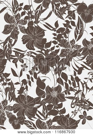 Seamless  spring flower illustration