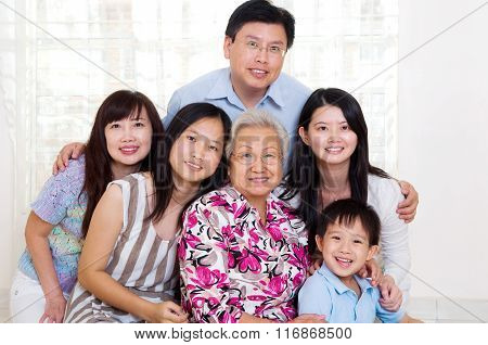 Asian Three Generations Family