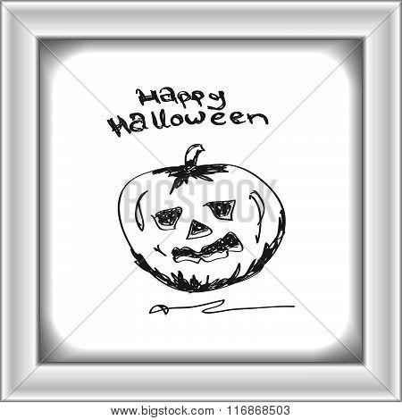 Simple Doodle Of A Pumpkin