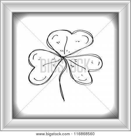 Simple Doodle Of A Clover Leaf