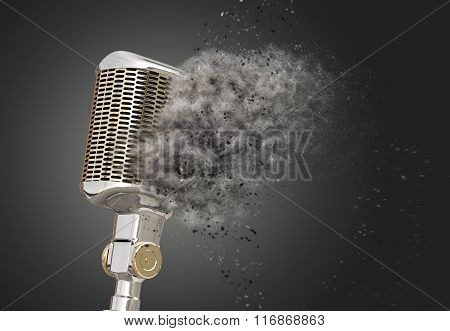 Microphone Shattered Into Dust