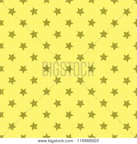 Seamless stars vector on a yellow background