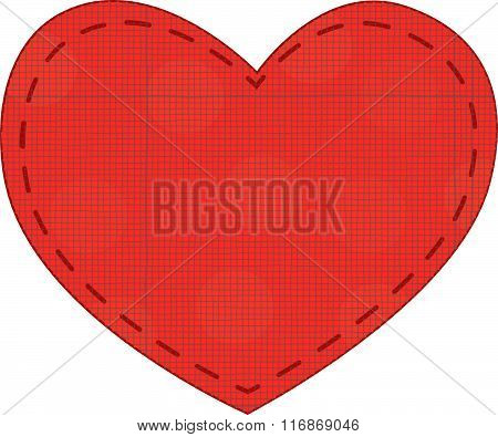 Red heart vector with texture