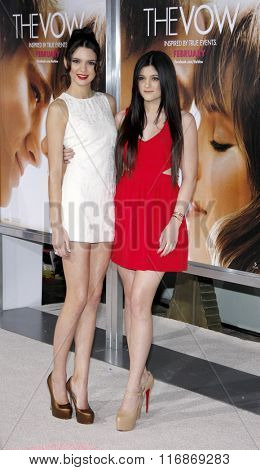 Kylie Jenner and Kendall Jenner at the Los Angles Premiere of