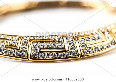 Gold Necklace With Stones