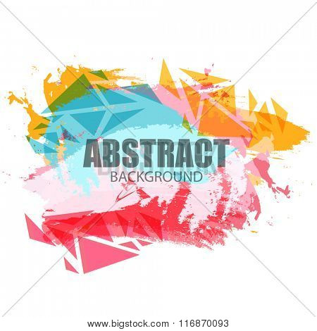 Colorful abstract design decorated background.