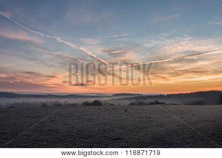 Landscape At Dawn - Amazing Sky Colors