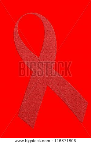 World Aids Day Red Ribbon.Isolated with clipping path.