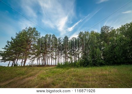 Russian landscape at Rybinsk Reservoir