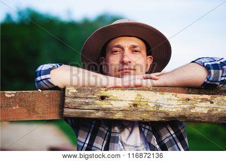 cowboy on farm