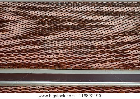 brown clay roof tiles