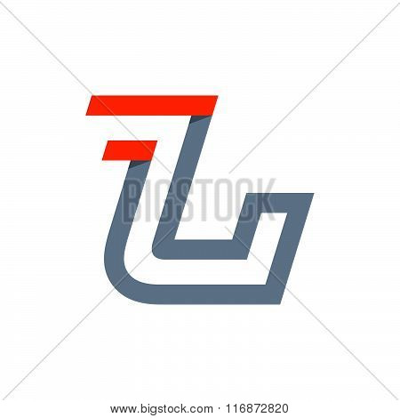 L Letter Fast Speed Logo.