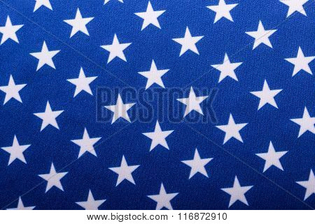 USA Flag. Close-up of the Stars on an American Flag United States