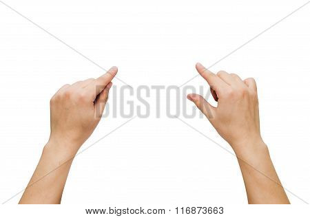 Two Hands Gesture Set Isolated On White