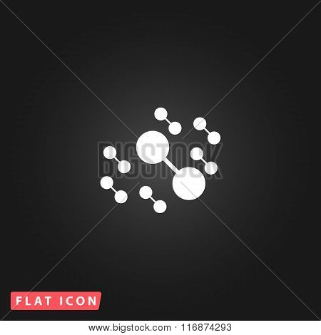 Molecule atom simple pictogram