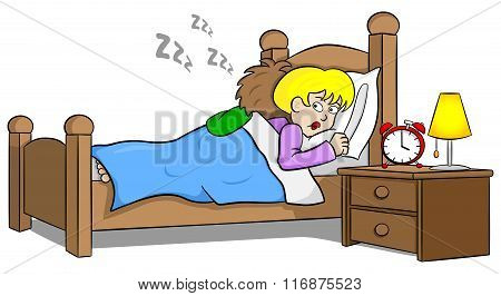 Snoring Man And Sleepless Woman