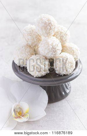 White Chocolate And Coconut Candy Balls