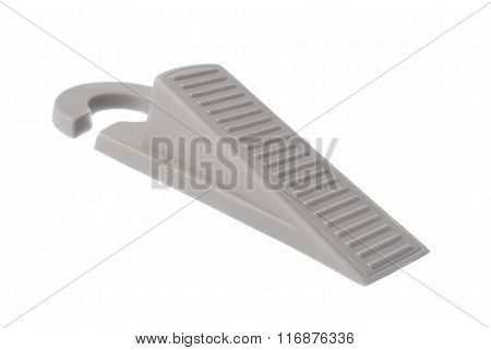 Rubber doorstop door stopper close-up on a white background