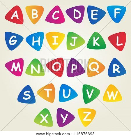 Cheerful children's font design