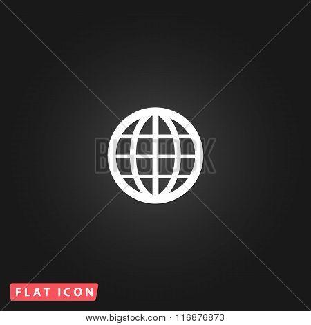 Earth Globe Emblem. Vector