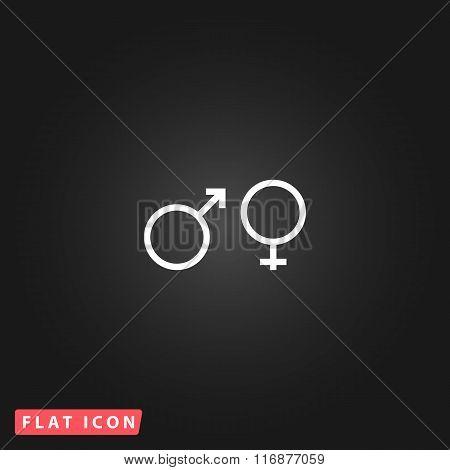 Sex symbol flat icon