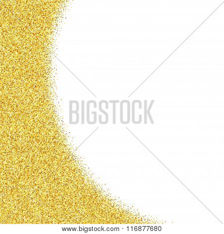 Abstract vector gold dust glitter star background