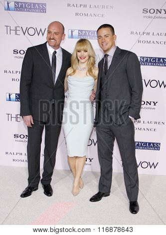 Michael Sucsy, Channing Tatum and Rachel McAdams at the Los Angles Premiere of
