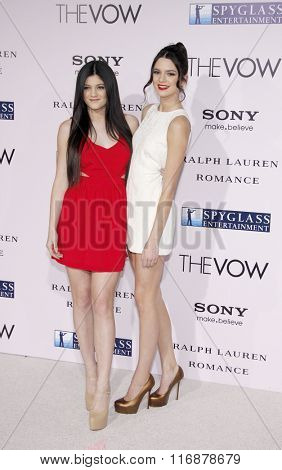 Kendall Jenner and Kylie Jenner at the Los Angeles Premiere of