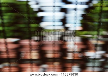 blurry window louver in Thai house texture and background