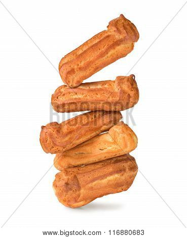 Eclairs Isolated On A White Background