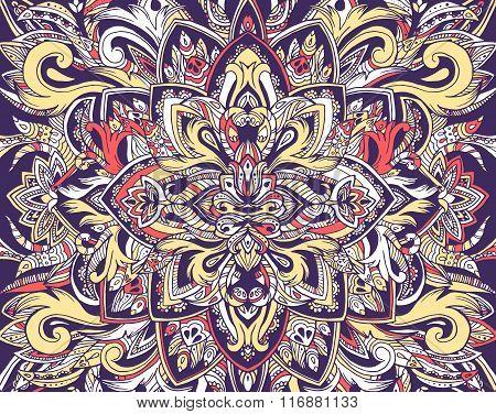 Abstract ornament art traditional, Islam, arabic, indian, ottoman motifs, elements. Vector illustrat
