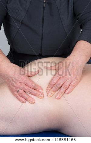 Man On  Therapy Massage Procedure By Physiotherapist