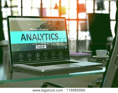 Analytics Concept on Laptop Screen.