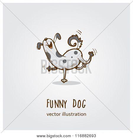 Funny Dog  Logo.
