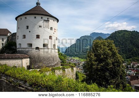 Fortress On The Background Of Mountains