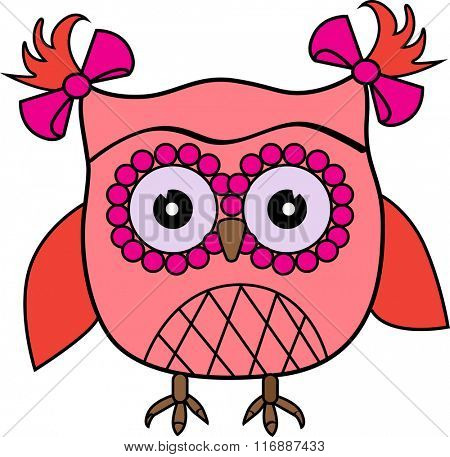 Cute vector colorful owl