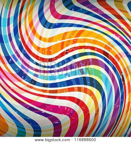 Whimsical Swirl Of Colors