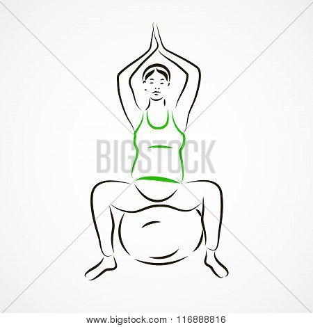 Lotus Pose On Fitball