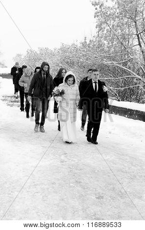 Russian Wedding In Deep Winter