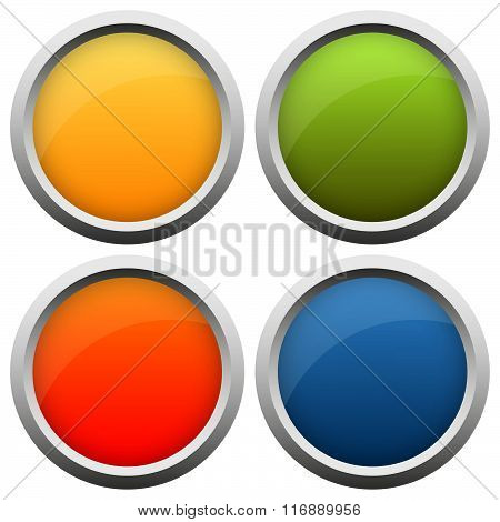 Button Collection Four Colors