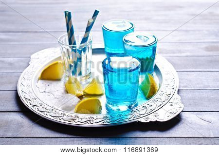 Blue Drink With Ice