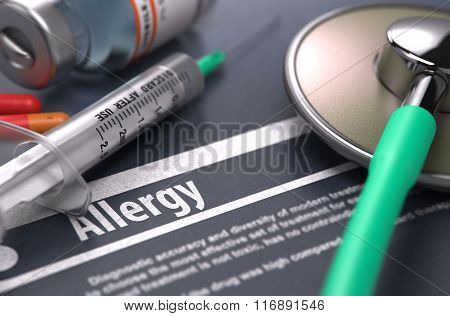 Diagnosis - Allergy. Medical Concept.