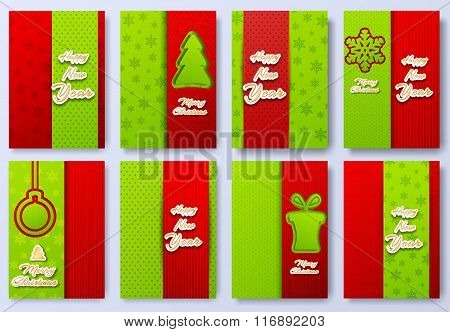 collection set of merry christmas and happy new year 2016 backgroun illustration concepts.  Vector d