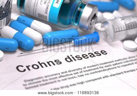 Crohns Disease Diagnosis. Medical Concept.