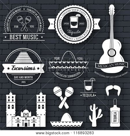 Country Mexico label template of emblem element for your product or design, web and mobile applicati
