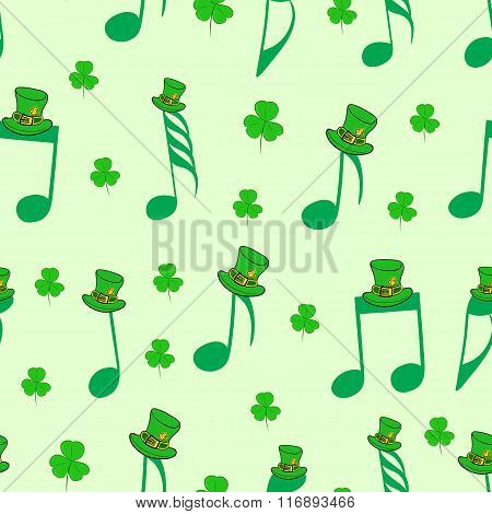 Seamless notes of Saint Patrick