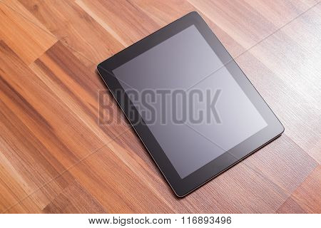 Portable device laying on ground
