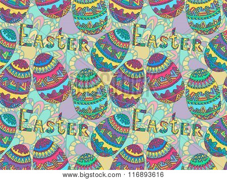 Easter Zentangle Eggs Ethnic Native Abstract Pattern 3
