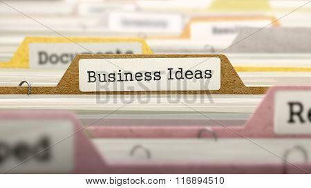Business Ideas Concept on Folder Register.